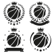 Set of Vintage Basketball Club Badge and Label - GraphicRiver Item for Sale