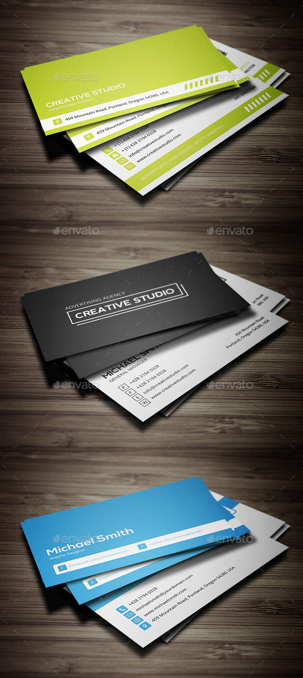 GraphicRiver Business Cards Bundle 9937970
