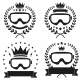 Set of Vintage Ice Snowboarding or SKI Club Badge  - GraphicRiver Item for Sale