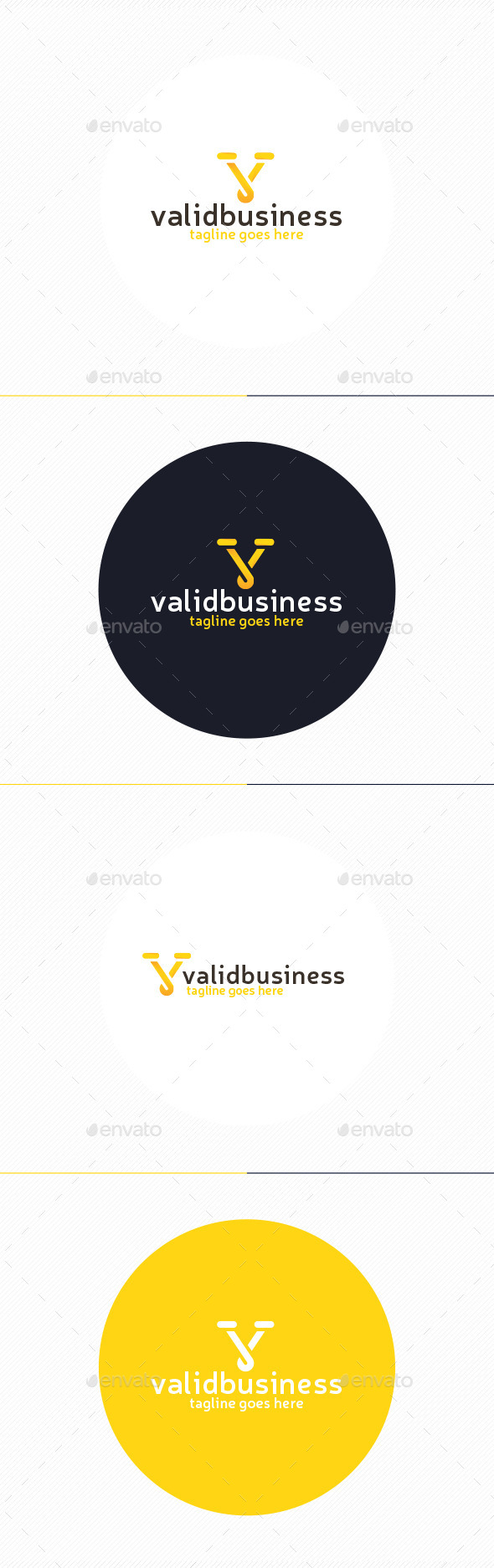 GraphicRiver Valid Business Logo Letter V 9937975