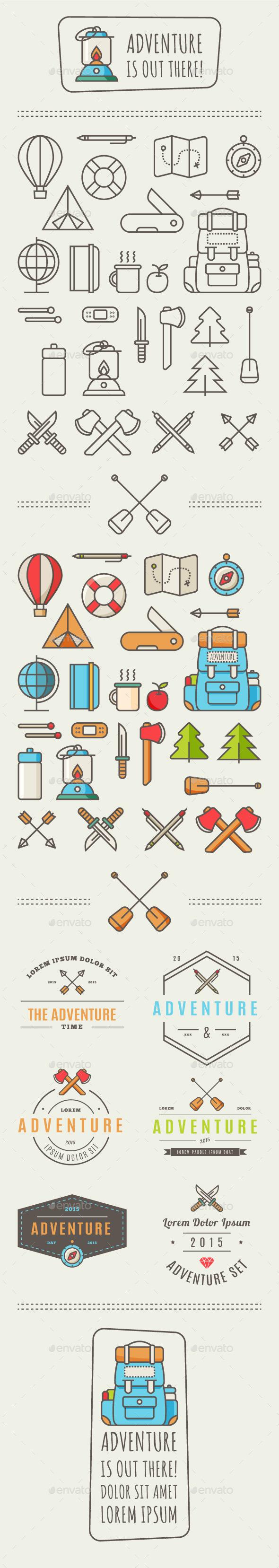 GraphicRiver Adventure Icons 9937983
