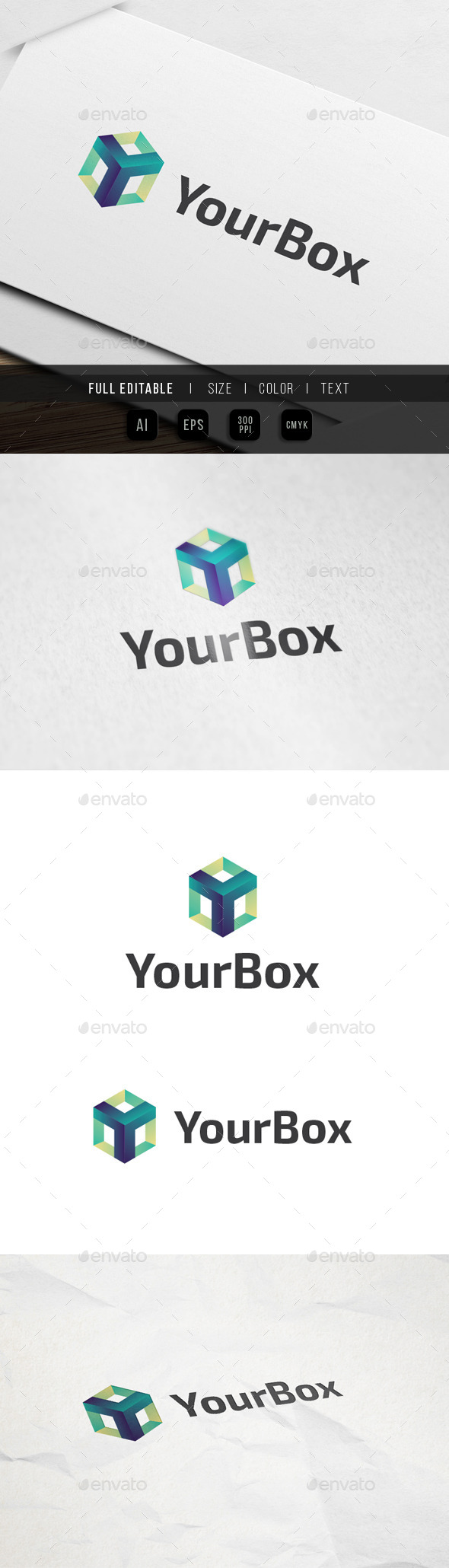 Letter Y Box tech Logo