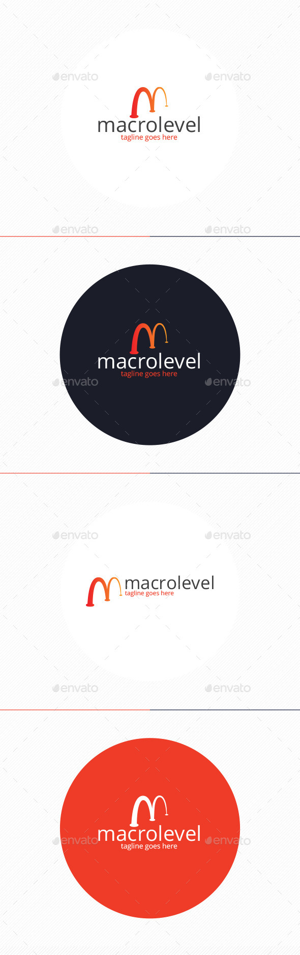 GraphicRiver Macro Level Logo Letter M 9938123