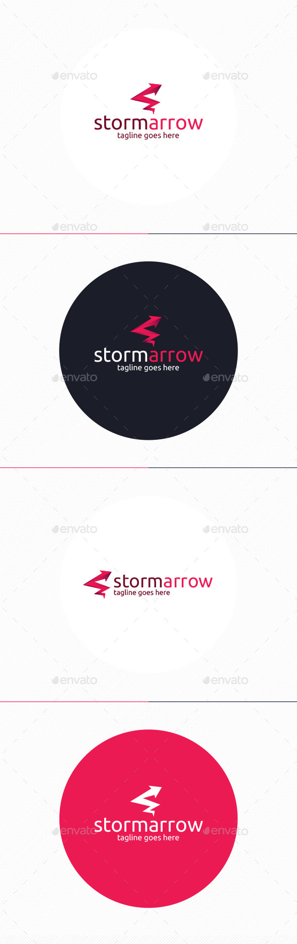 GraphicRiver Storm Arrow Logo 9938176