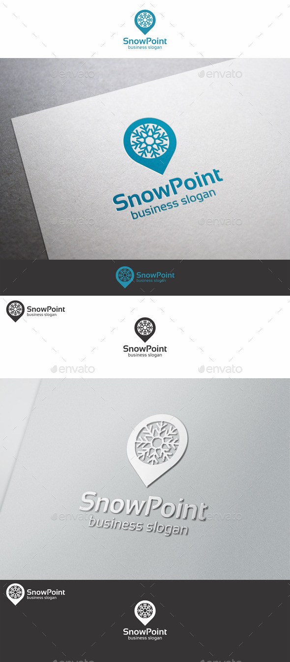 GraphicRiver Snow Point Snowflake Logo 9938569