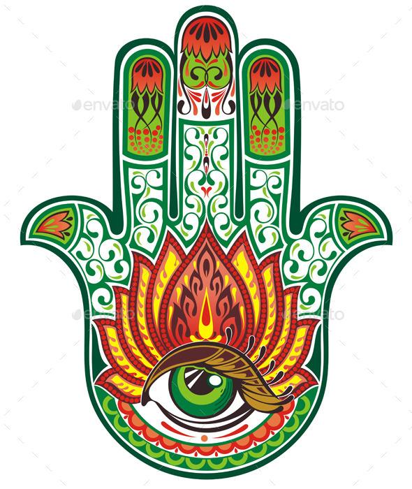 GraphicRiver Hamsa Hand 9938593