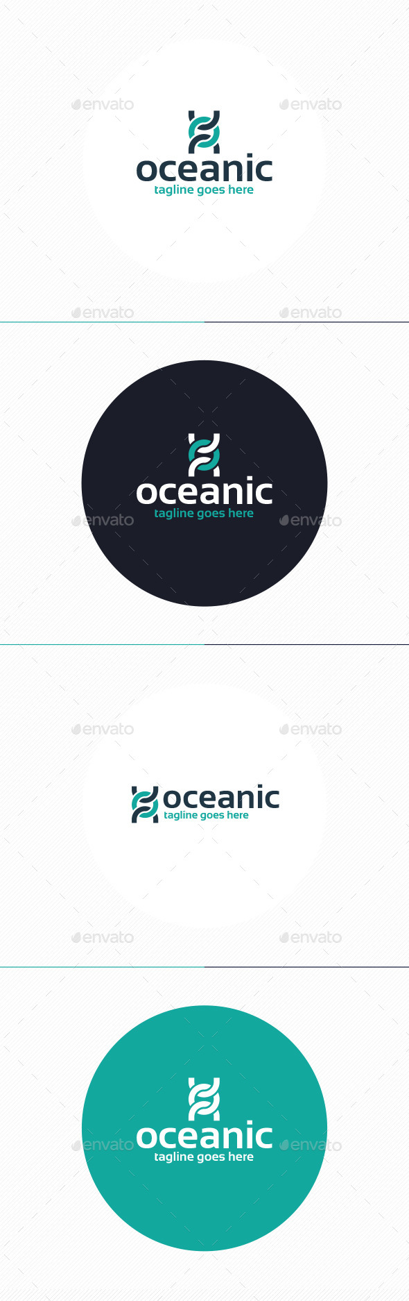 GraphicRiver Oceanic Logo Letter O 9938594