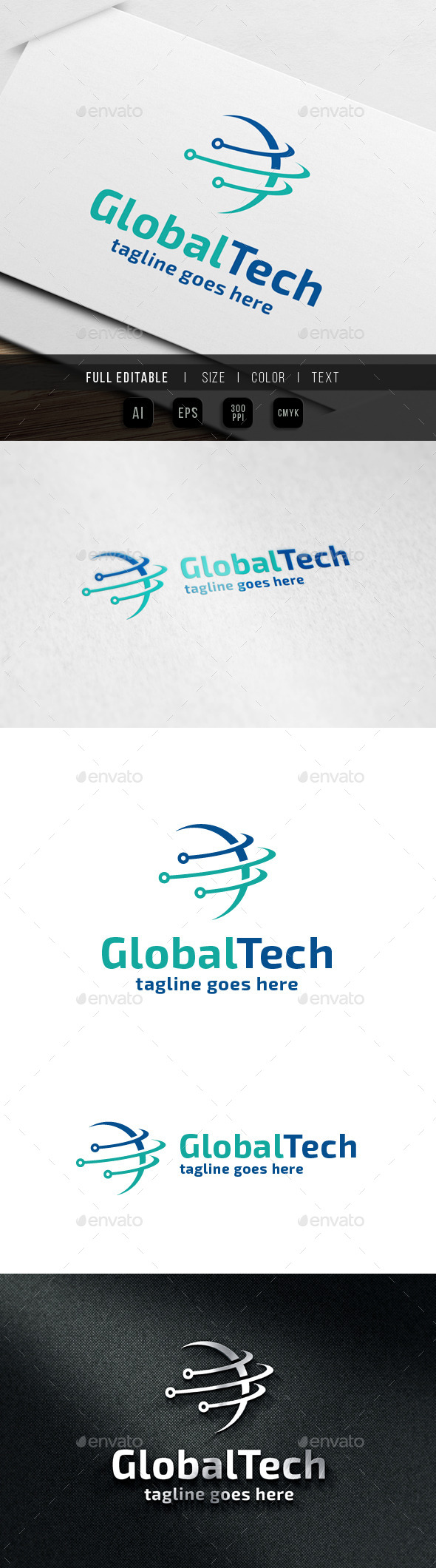 GraphicRiver Global Network Logo 9938618