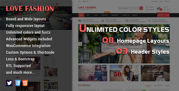 Love Fashion Responsive WordPress Theme