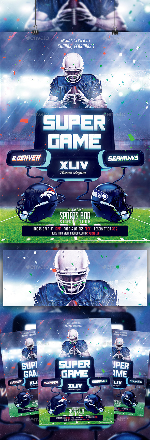 Super Ball XLIX Flyer Template