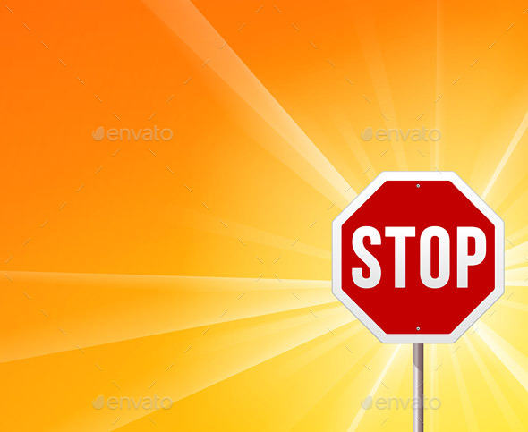 GraphicRiver Stop Sign and Sunshine 9938844