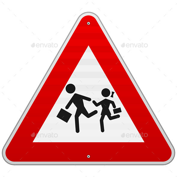 GraphicRiver Pedestrian Danger Sign 9938865