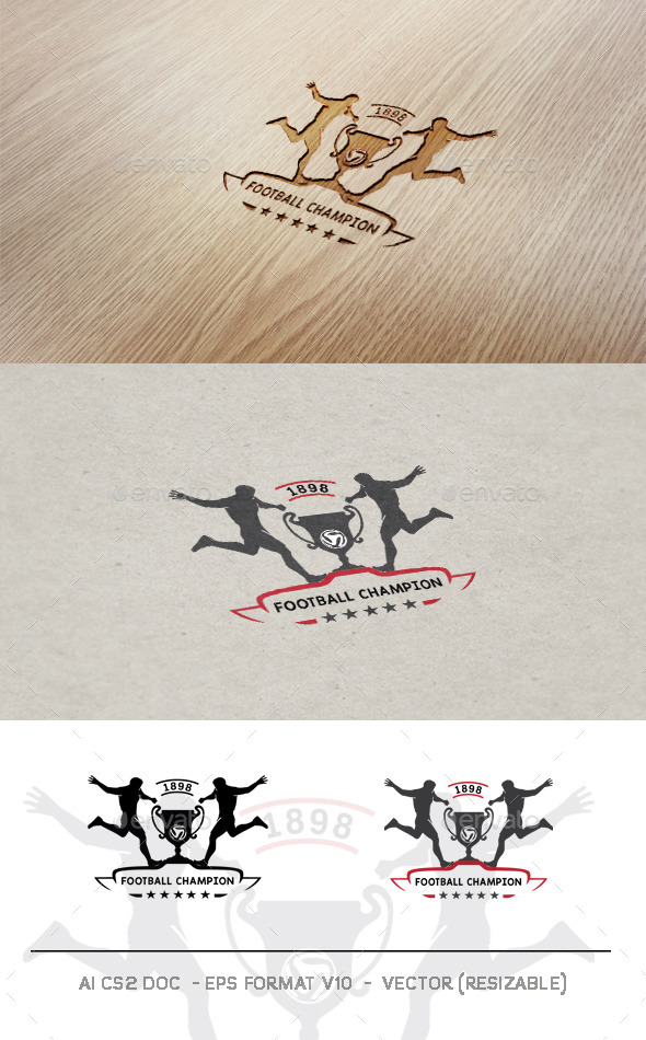 GraphicRiver Football Champion Logo 9938920