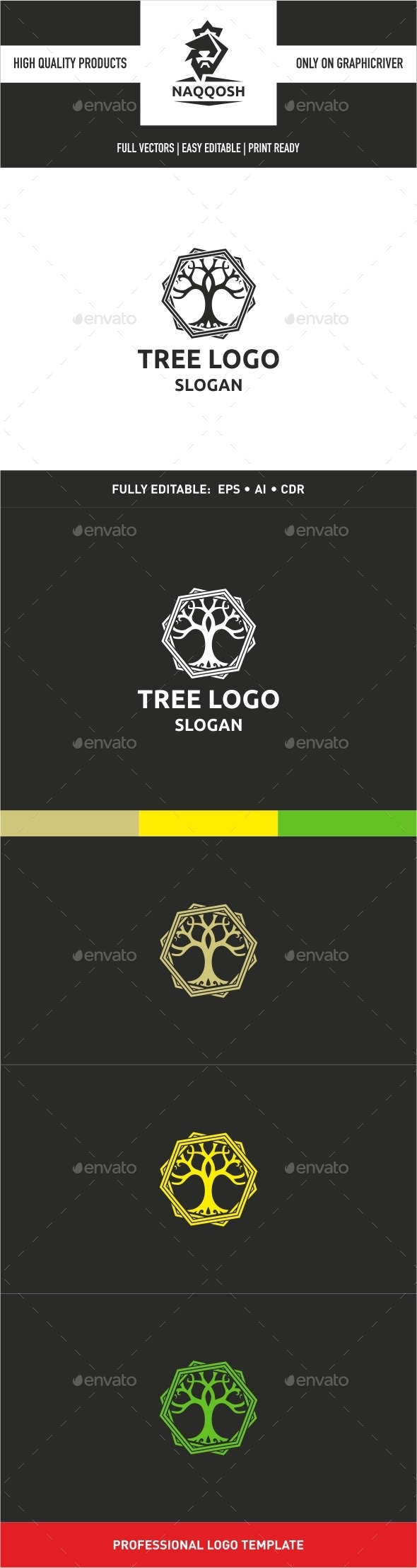 GraphicRiver Tree Logo 9938926