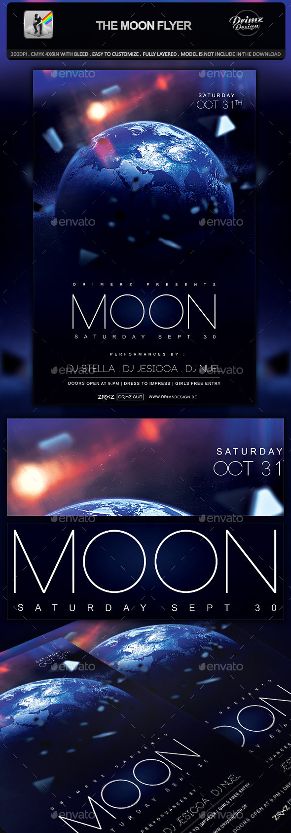 GraphicRiver The Moon Flyer 9938929