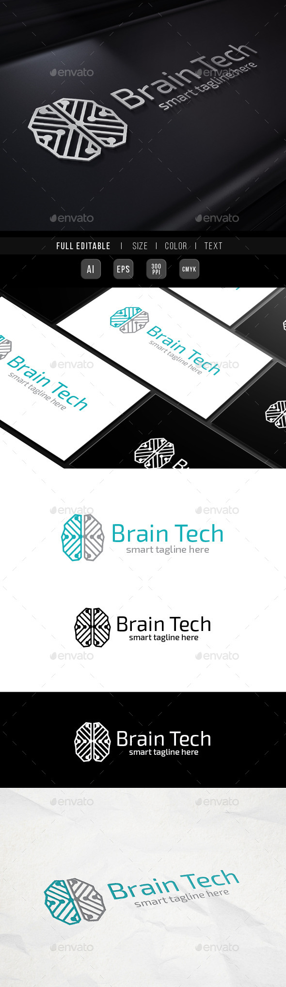 GraphicRiver Brain Genius Network Tech 9938960