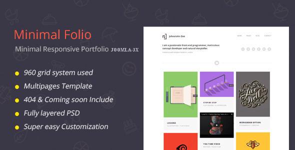 Minimal Folio-Responsive Portfolio Joomla Template