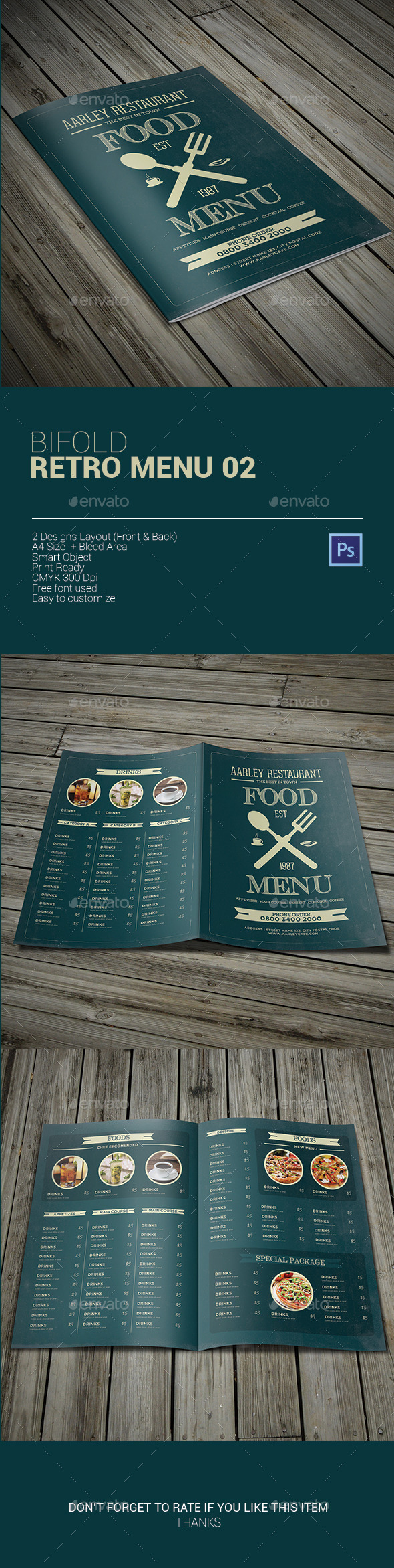 GraphicRiver Bifold Retro Menu 02 9911545