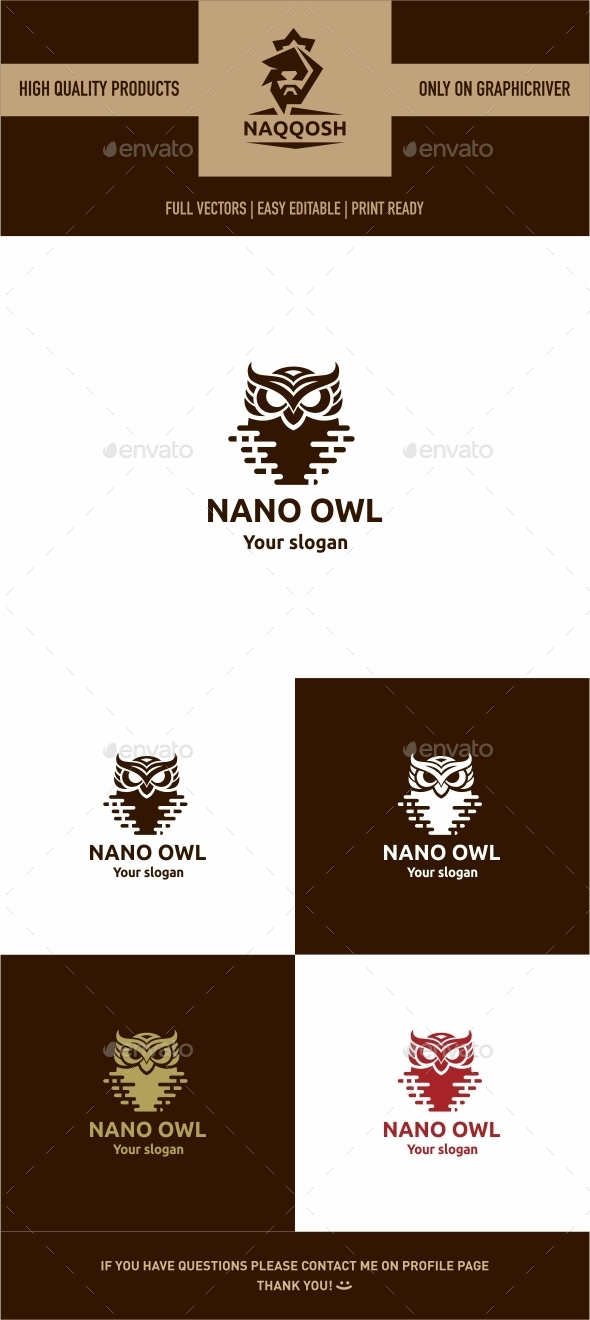 GraphicRiver Nano Owl 9939041