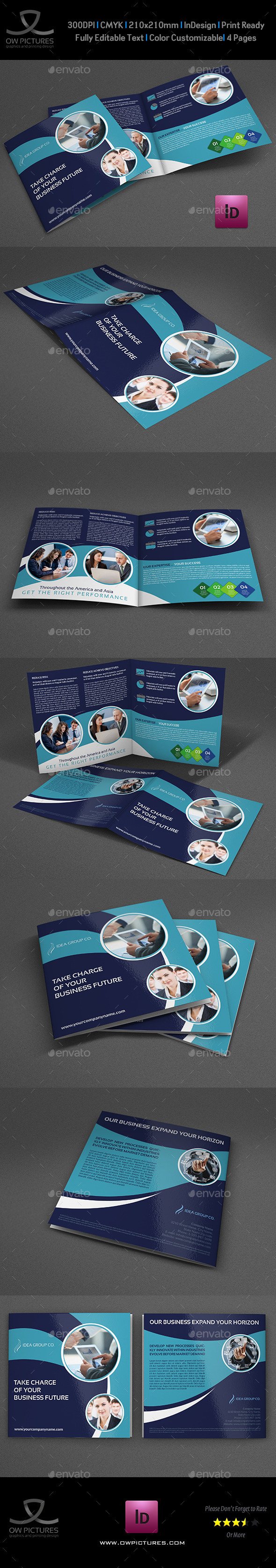 Company Brochure Bi-Fold Template Vol.38