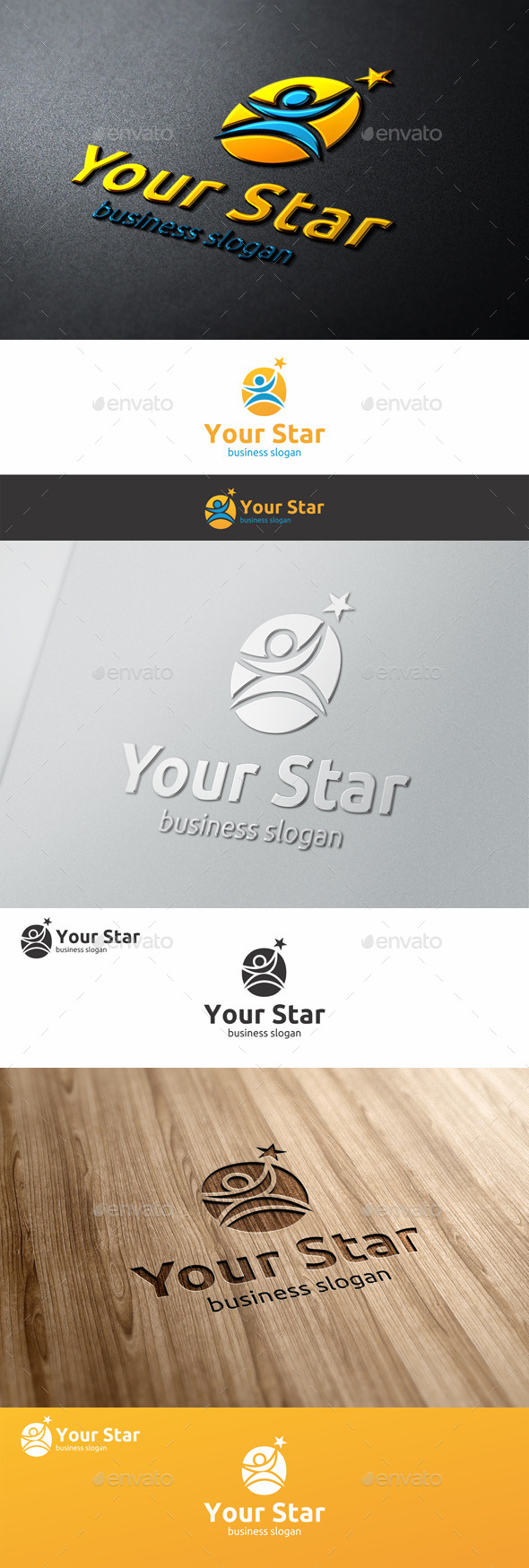 GraphicRiver Your Star Logo Successful People 9939149