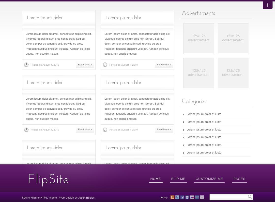 FlipBlog Premium WordPress Theme
