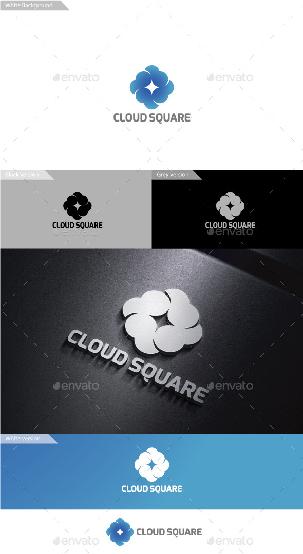 GraphicRiver Cloud Sqaure 9938827