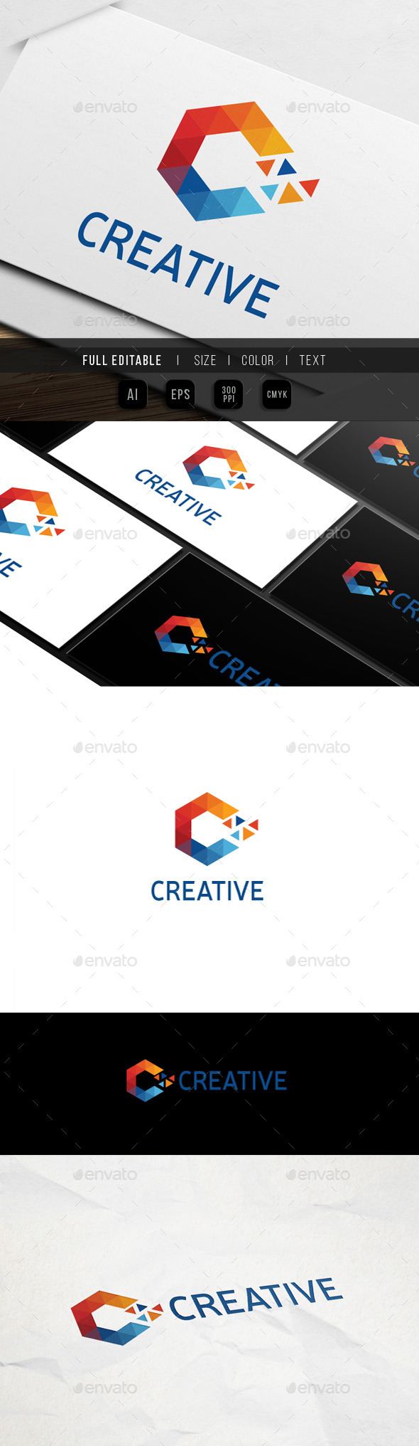 GraphicRiver Letter C Triangle Pixel 9939271