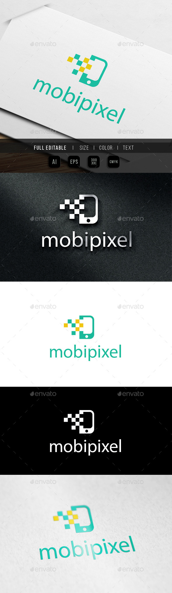 GraphicRiver De Mobile Pixel Logo 9939284