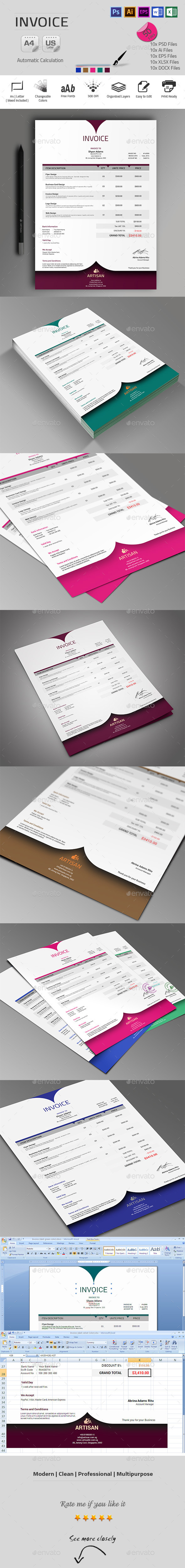 GraphicRiver Invoice 9939350