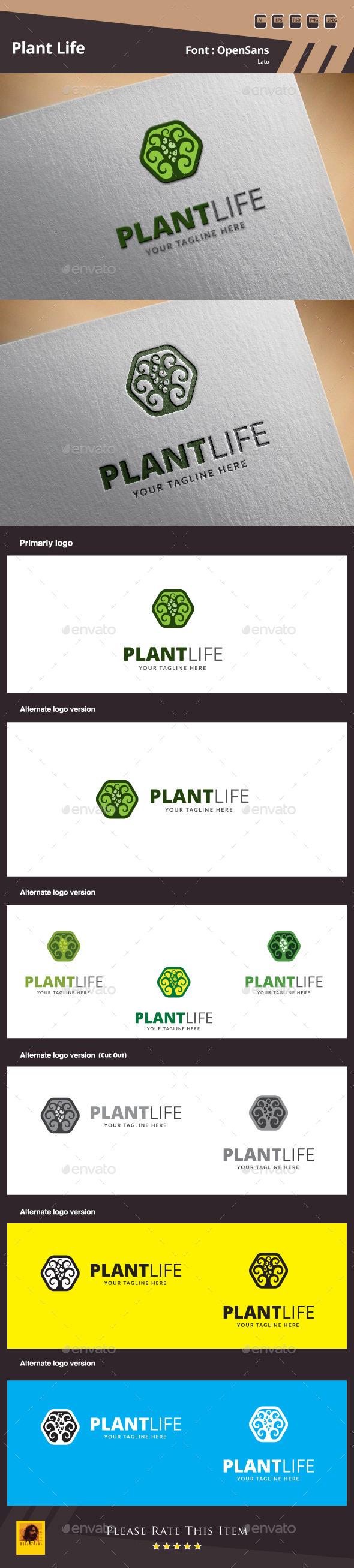 GraphicRiver Plant Life Logo Template 9939535