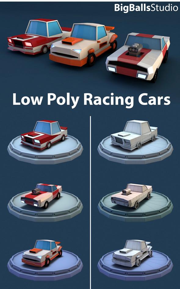 3DOcean Low Poly Racing Car 9939679