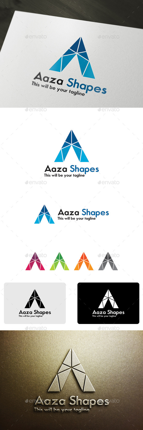 GraphicRiver Aaza Shapes 9939743