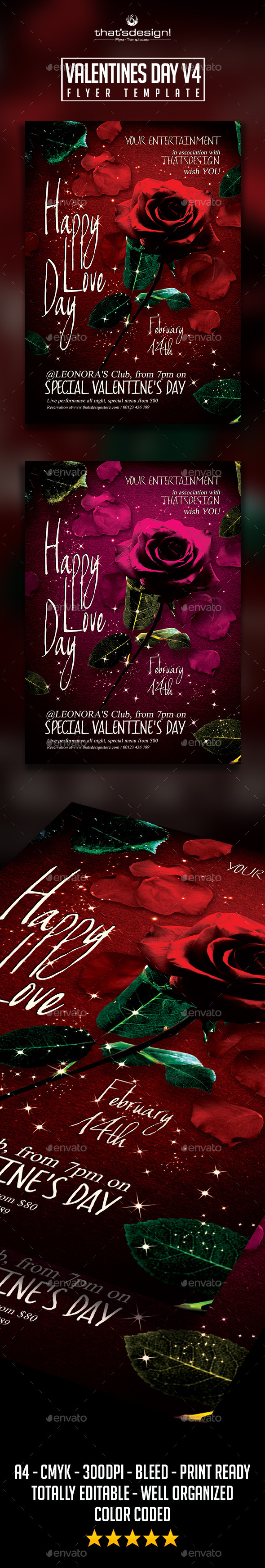Valentines Day Flyer Template V4