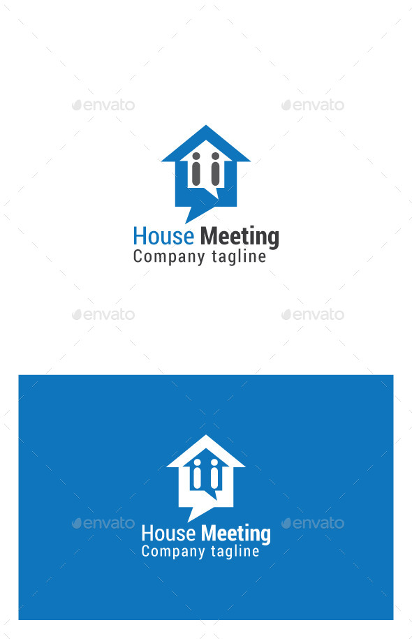 GraphicRiver House Meeting Logo 9939768