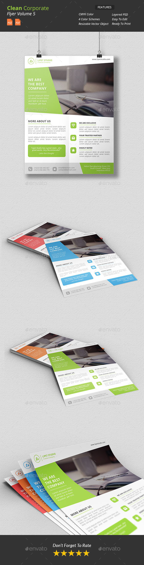 GraphicRiver Clean Corporate Flyer v5 9939881