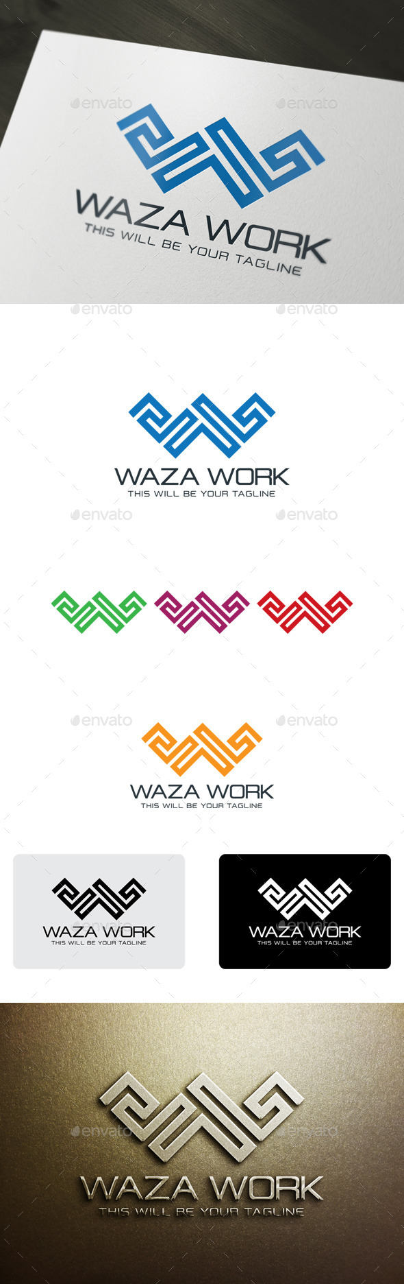 GraphicRiver We Works W Letter 9940048