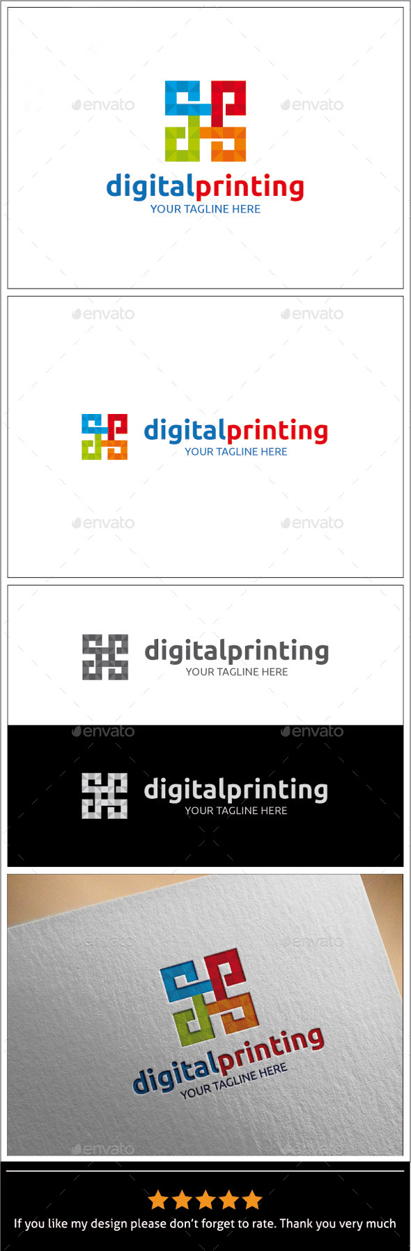 GraphicRiver Digital Printing Logo Template 9940071