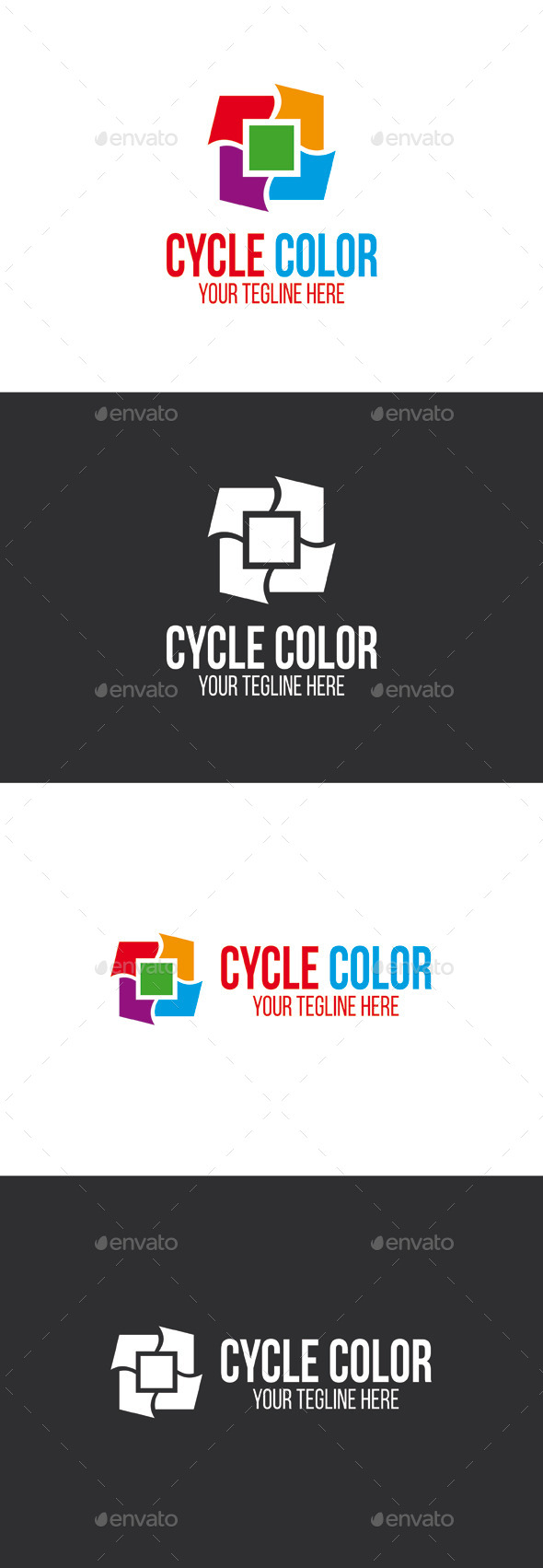 GraphicRiver Cycle Color Logo Template 9940155