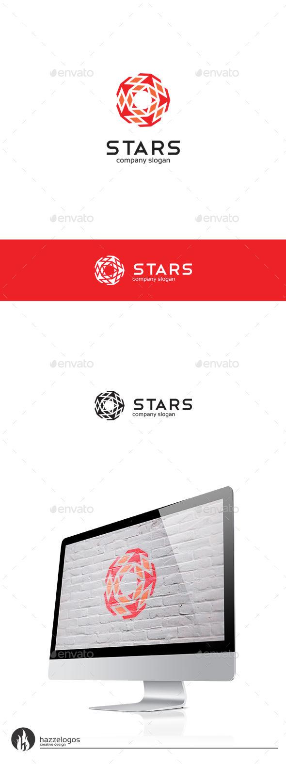 GraphicRiver Stars Logo 9940323