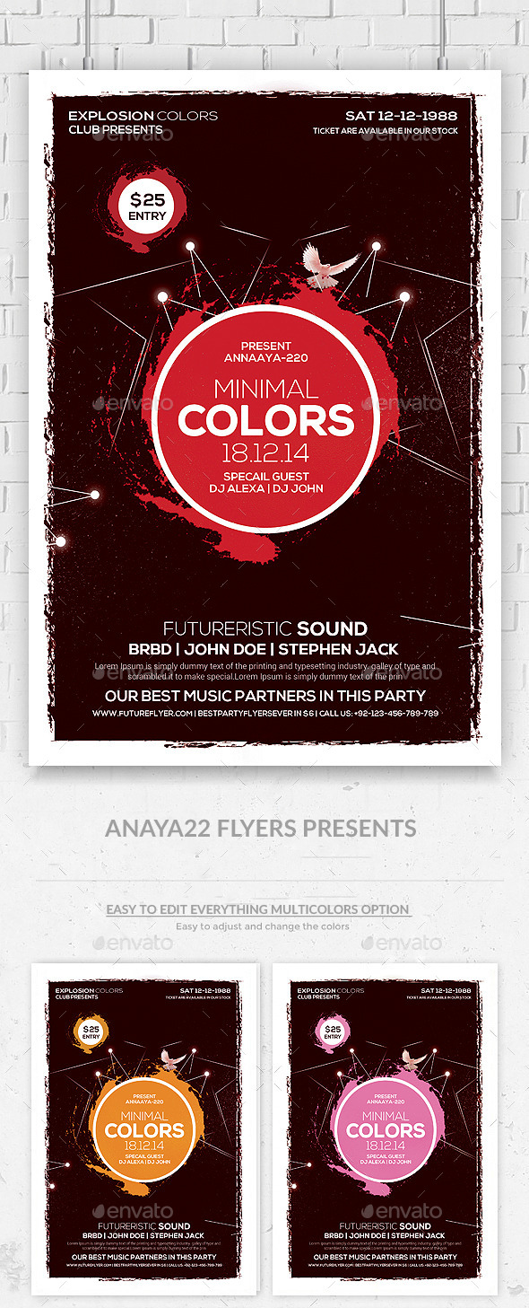 GraphicRiver Minimal Abstract Flyer Templates 9940356