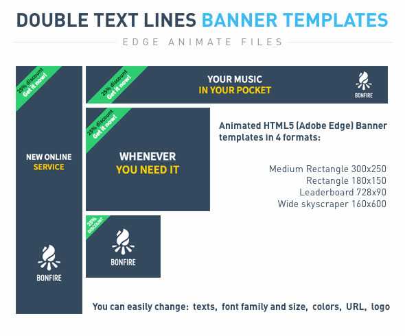 CodeCanyon Double text lines Banner templates 9940367