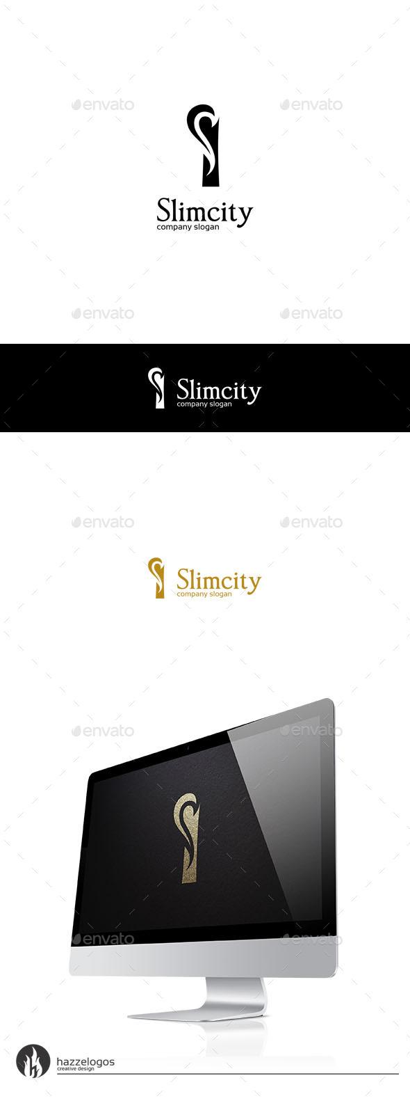 GraphicRiver Slimcity Logo 9940446