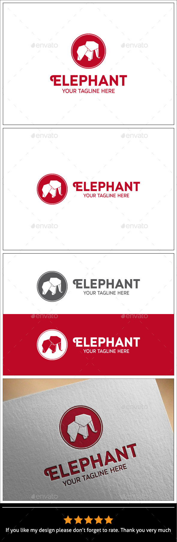 GraphicRiver Elephant Logo Template 9940458