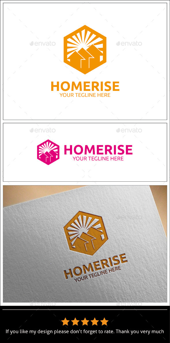 GraphicRiver Home Rise Logo Template 9940577