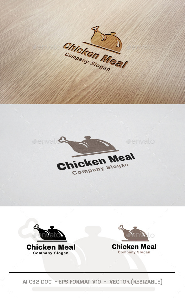 GraphicRiver Chicken Meal Logo 9941159