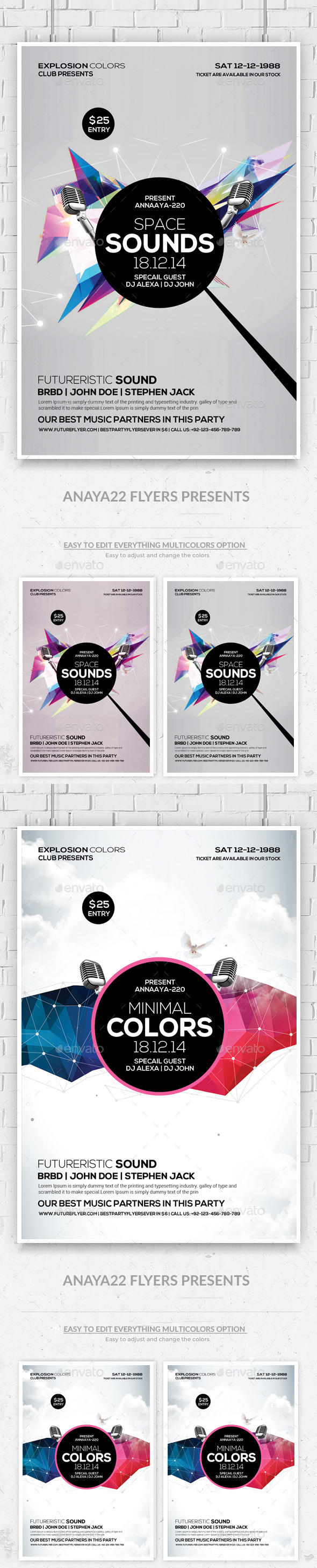 GraphicRiver Minimal Abstract Flyer Templates 9941436