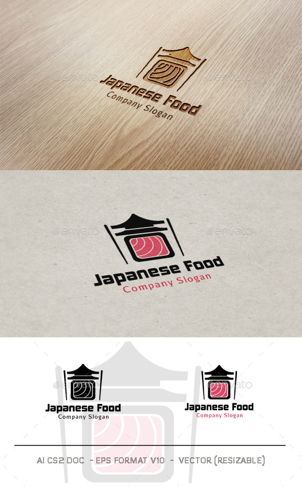 GraphicRiver Japanese Food Logo 9941496