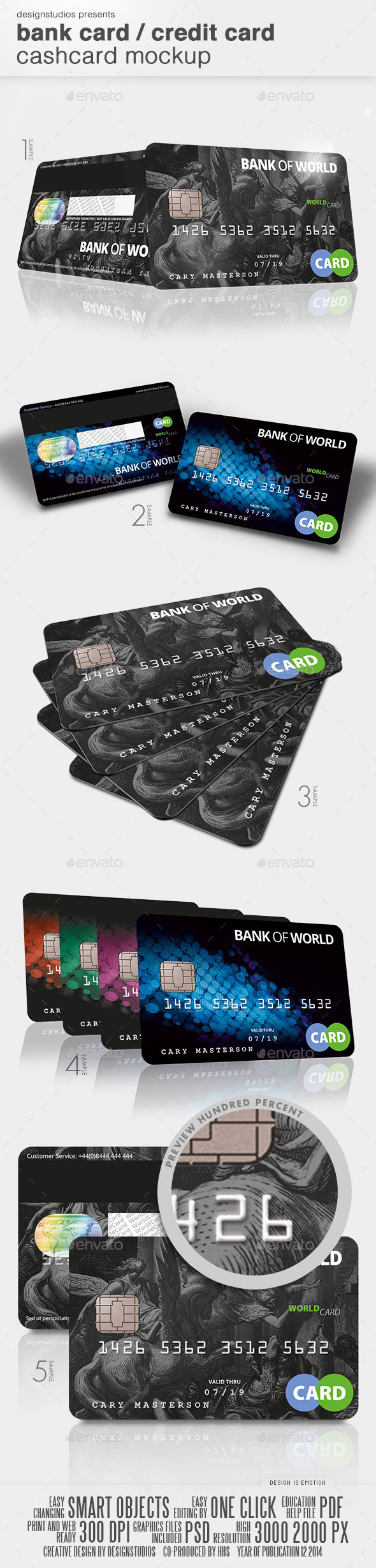 GraphicRiver Bank Card Credit Card CashCard Mock-Up 9846708
