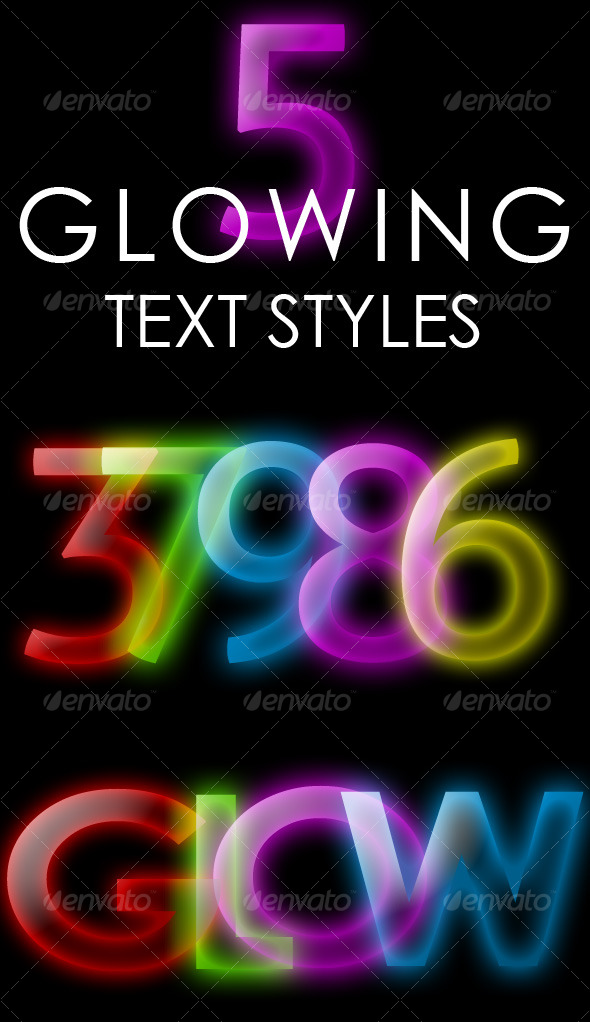 GraphicRiver Glowing Text Style 126097